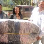 """Inicia entrega del programa """"Cobijemos Oaxaca"""" en la Mixteca"""